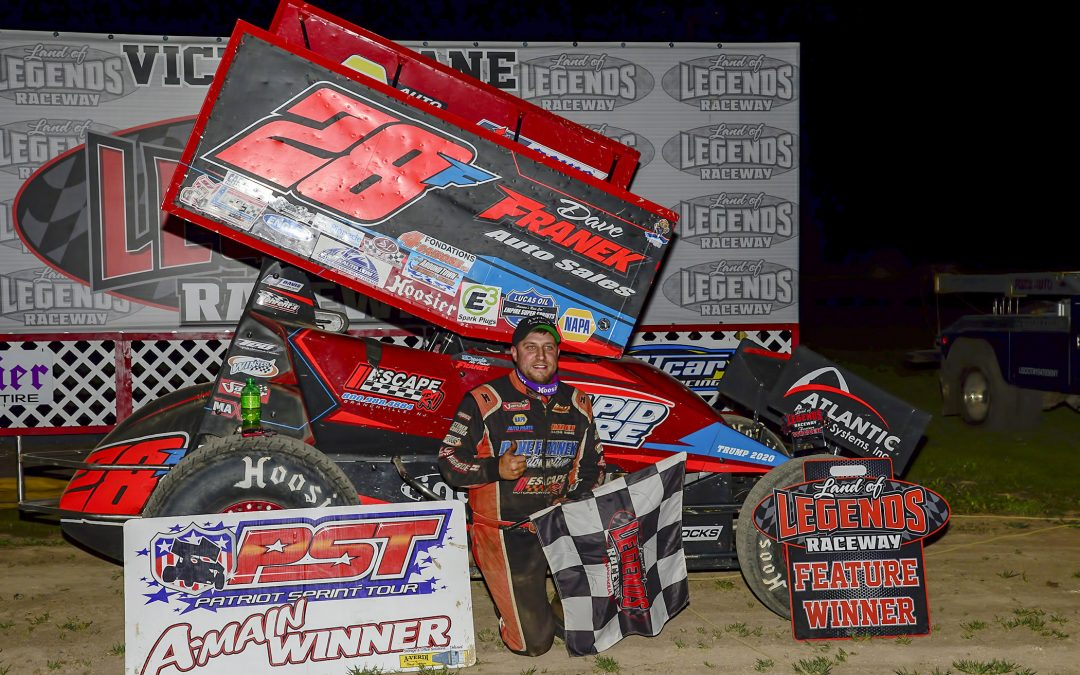 POINT LEADERS SHEPPARD & RUDOLPH SPLIT DIRTCAR DOUBLE AT LAND OF LEGENDS