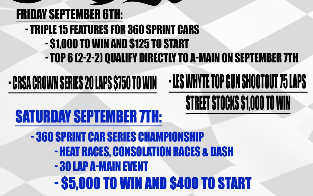 LAND OF LEGENDS GEARING UP FOR 1ST NEW YORK NATIONALS 360 SPRINT SHOWDOWN