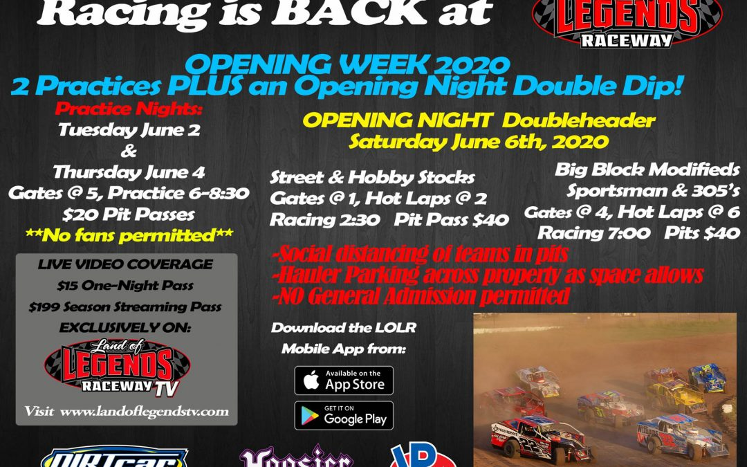 Land Of Legends Raceway Goes Green For Early June Practice Sessions