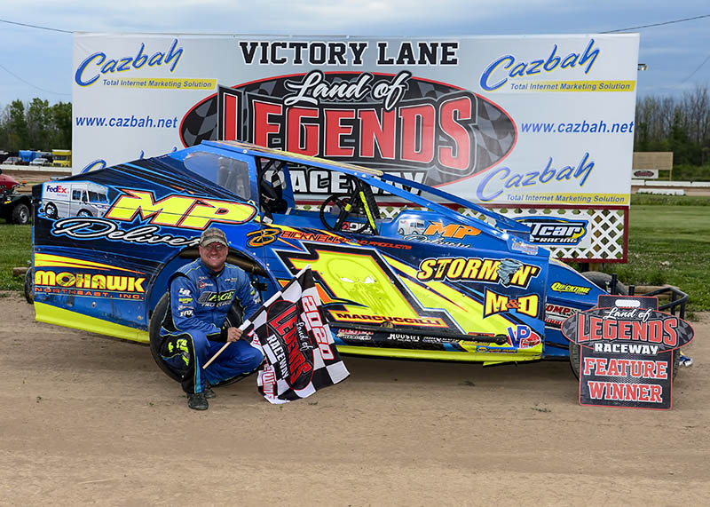 Dave Marcuccilli victory lane photo attachment by Don Romeo